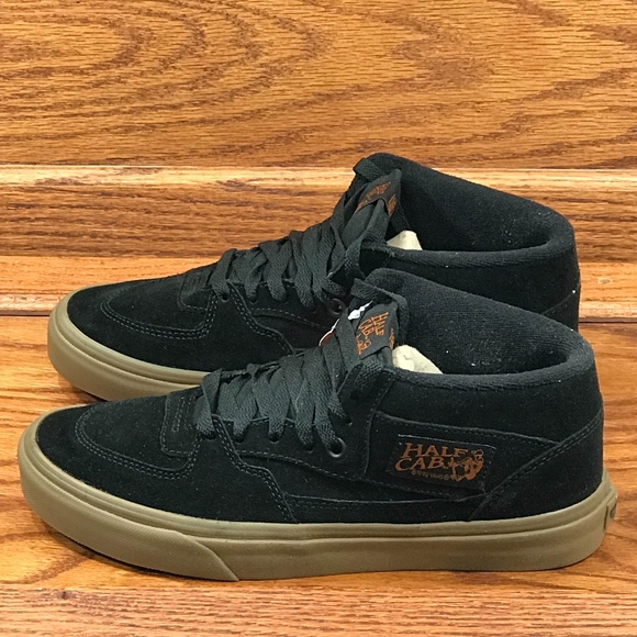 ce9531af86 Vans Half Cab Gum Black Black Shoes